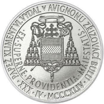 Povýšení pražského biskupství na arcibiskupství - 670 let - 1 Oz stříbro b.k. - 2