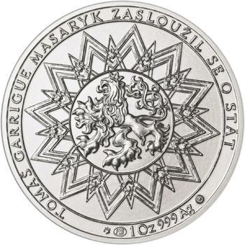70 let od úmrtí Tomáše Garrigue Masaryka - stříbro b.k. - 2