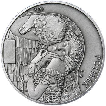 Gustav Klimt - stříbro patina - 2