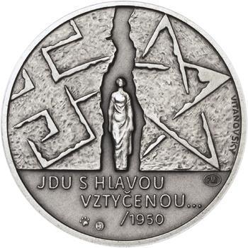 Milada Horáková - stříbro malá patina - 2