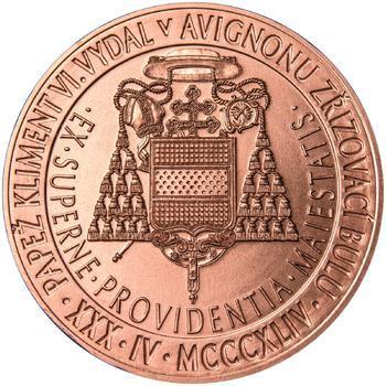 Povýšení pražského biskupství na arcibiskupství - 670 let - 1 Oz Měď b.k. - 2