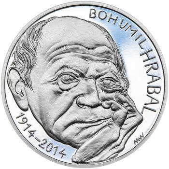BOHUMIL HRABAL – návrhy mince 200 Kč - sada tří stříbrných medailí 34 mm Proof v etui - 2