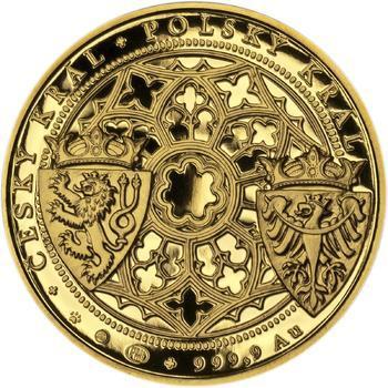 Korunovace Václava II. českým králem - zlatá Oz - PROOF - 2