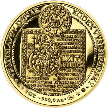 Korunovace Vratislava II. českým králem - zlatá Oz - PROOF - 2
