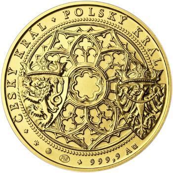 Korunovace Václava II. českým králem - zlatá Oz - b.k. - 2