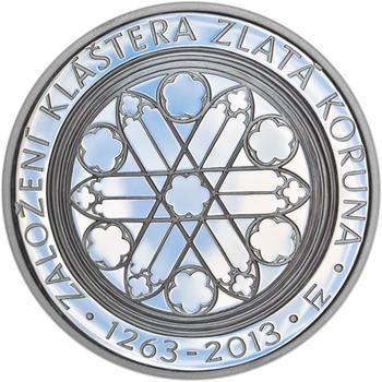 Mince ČNB - 2013 Proof - 200 Kč Založení klášteru Zlatá koruna - 2