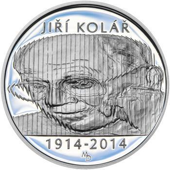 Mince ČNB - 2014 Proof - 500 Kč Jiří Kolář - 2