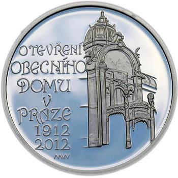 Mince ČNB - 2012 b.k. - 200 Kč  Postaven Obecní dům v Praze - 2