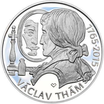 Mince ČNB - 2015 Proof - 500 Kč Václav Thám - 2