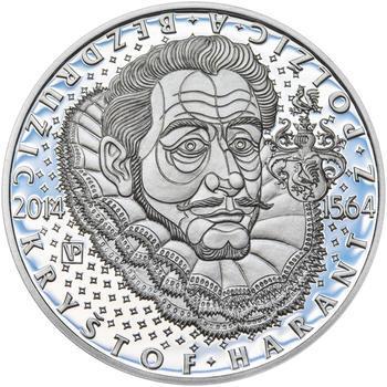 Mince ČNB - 2014 Proof - 200 Kč Kryštof Harant z Polžic a Bezdružic - 2
