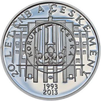 Mince ČNB - 2013 b.k. - 200 Kč 20 let ČNB a české měny - 2