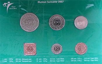 Mintset Surinam 391 Cent 2007 B.U. Cu/Ni - 2