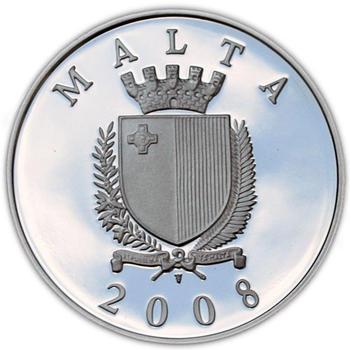 Auberge de Castillia Silver Proof 10 Eur Malta 2008 - 2