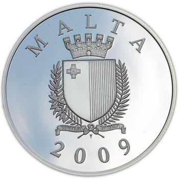 The Castellania Silver Proof 10 Eur Malta 2009 - 2