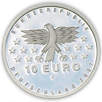 2007 Saarland Silver Proof 10 Eur - 2