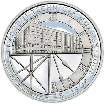 Mince ČNB - 2008 Proof - 100. výročí Založení Národního technického muzea - 2