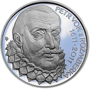 Mince ČNB - 2011 b.k. - 200 Kč  Petr Vok z Rožmberka - 2