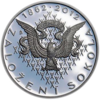 Mince ČNB - 2012 b.k. - 200 Kč  Založení Sokola - 2