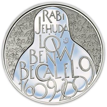 Mince ČNB - 2009 Proof - 200 Kč 400 let úmrtí Rabí Jehuda Löw - 2