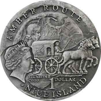Amber Route - STARE HRADISKO Ag Unc. - Niue Island - 2