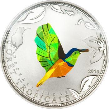 2010 Togo - Rainforest wildlife - set sunbird  Ag Proof - 2