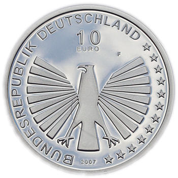 2007 Roman Treaty Silver Proof 10 Eur - 2