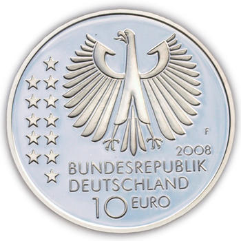 2008 Max Planck 150th Birthday Silver Proof 10 Eur - 2
