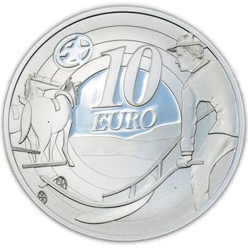 Europe Star Ploughman Silver Proof - 2
