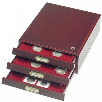 Elegantní mincovní kazeta z mahagonového dřeva HMB 20 M - 2