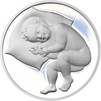 Stříbrný medailon k narození dítěte - 2