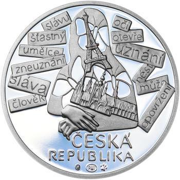 JIŘÍ KOLÁŘ – návrhy mince 500 Kč - sada tří Ag medailí 34 mm Proof v etui - 3