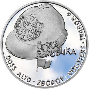 ZAL. ČESKOSLOVENSKÝCH LEGIÍ – návrhy mince 200 Kč - sada tří Ag medailí 34 mm Proof v etui - 3
