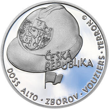 ZAL. ČESKOSLOVENSKÝCH LEGIÍ – návrhy mince 200,-Kč - sada tří Ag medailí 34mm Proof v etui - 3