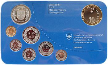 """2009 Oběhové mince Švýcarsko Proof """"Red Deer"""" - 3"""