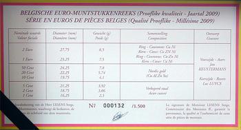 Sada mincí Belgie 2009 Proof - 3