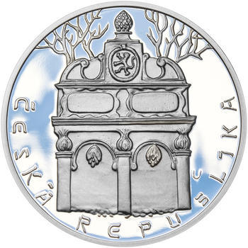 RABÍ JEHUDA LÖW – návrhy mince 200,-Kč - sada I. tří Ag medailí 34mm Proof v etui - 3