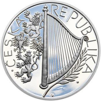 PRAŽSKÁ KONZERVATOŘ – návrhy mince 200 Kč - sada tří Ag medailí 34 mm Proof v etui - 3