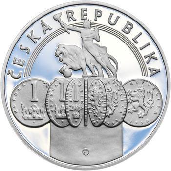 20 LET ČNB A ČESKÉ MĚNY – návrhy mince 200 Kč - sada tří Ag medailí 34 mm Proof v etui - 3