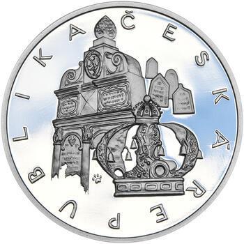 RABÍ JEHUDA LÖW – návrhy mince 200 Kč - sada II. tří Ag medailí 34 mm Proof v etui - 3