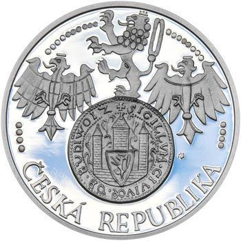 ČESKÉ BUDĚJOVICE – návrhy mince 200,-Kč - sada tří Ag medailí 34mm Proof v etui - 3