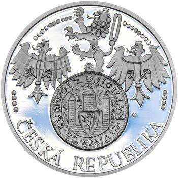 ČESKÉ BUDĚJOVICE – návrhy mince 200 Kč - sada tří Ag medailí 34 mm Proof v etui - 3