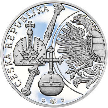 RUDOLF II. – návrhy mince 200,-Kč - sada tří Ag medailí 34mm Proof v etui - 3