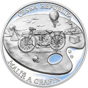 KAMIL LHOTÁK – návrhy mince 200 Kč - sada tří Ag medailí 34 mm Proof v etui - 3