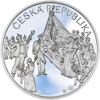 ZALOŽENÍ SOKOLA – návrhy mince 200,-Kč - sada tří Ag medailí 34mm Proof v etui - 3