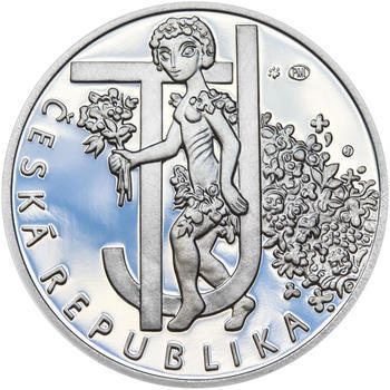 JIŘÍ TRNKA – návrhy mince 500 Kč - sada tří Ag medailí 34 mm Proof v etui - 3