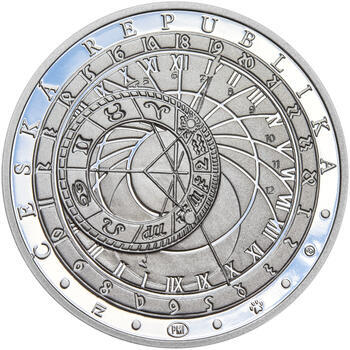 STAROMĚSTSKÝ ORLOJ – návrhy mince 200 Kč - sada tří Ag medailí 34 mm Proof v etui - 3