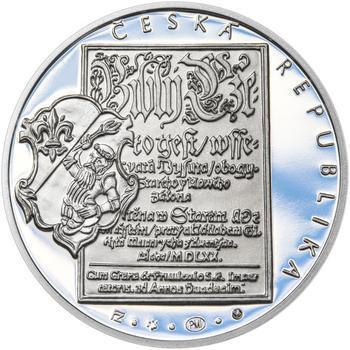 JIŘÍ MELANTRICH Z AVENTINA – návrhy mince 200,-Kč - sada tří Ag medailí 34mm Proof v etui - 3