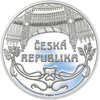 OBECNÍ DŮM V PRAZE – návrhy mince 200,-Kč - sada tří Ag medailí 34mm Proof v etui - 3