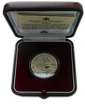 San Marino 10th Ann of EMU and Euro Ag Proof - 3