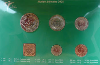 Mintset Surinam 391 Cent 2008 B.U. Cu/Ni - 3